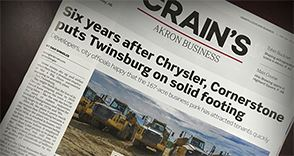 Here is a great update on our Cornerstone Business Park by Crain's Cleveland Business, Northeast