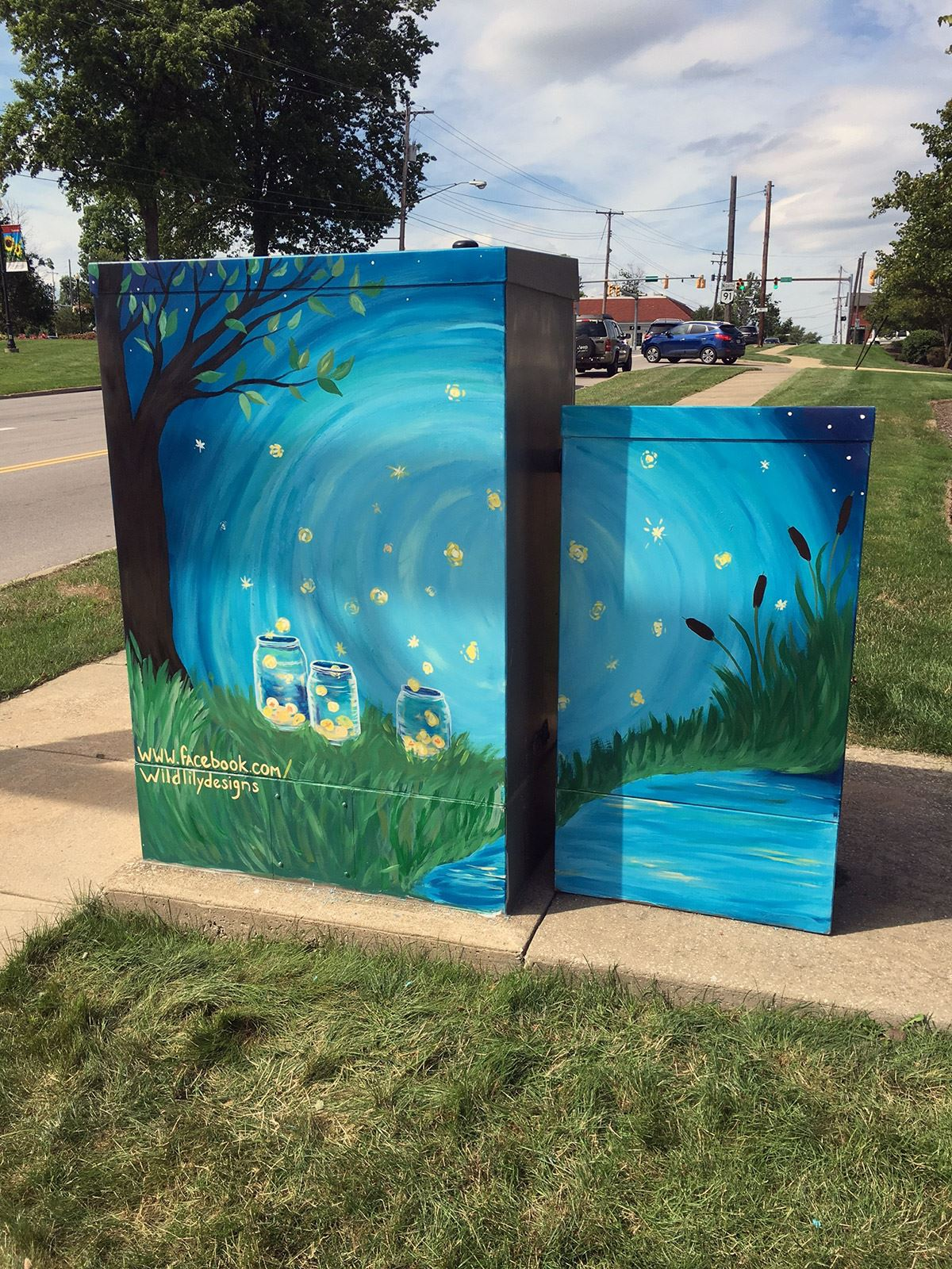 Electrical Box Art by Jennifer