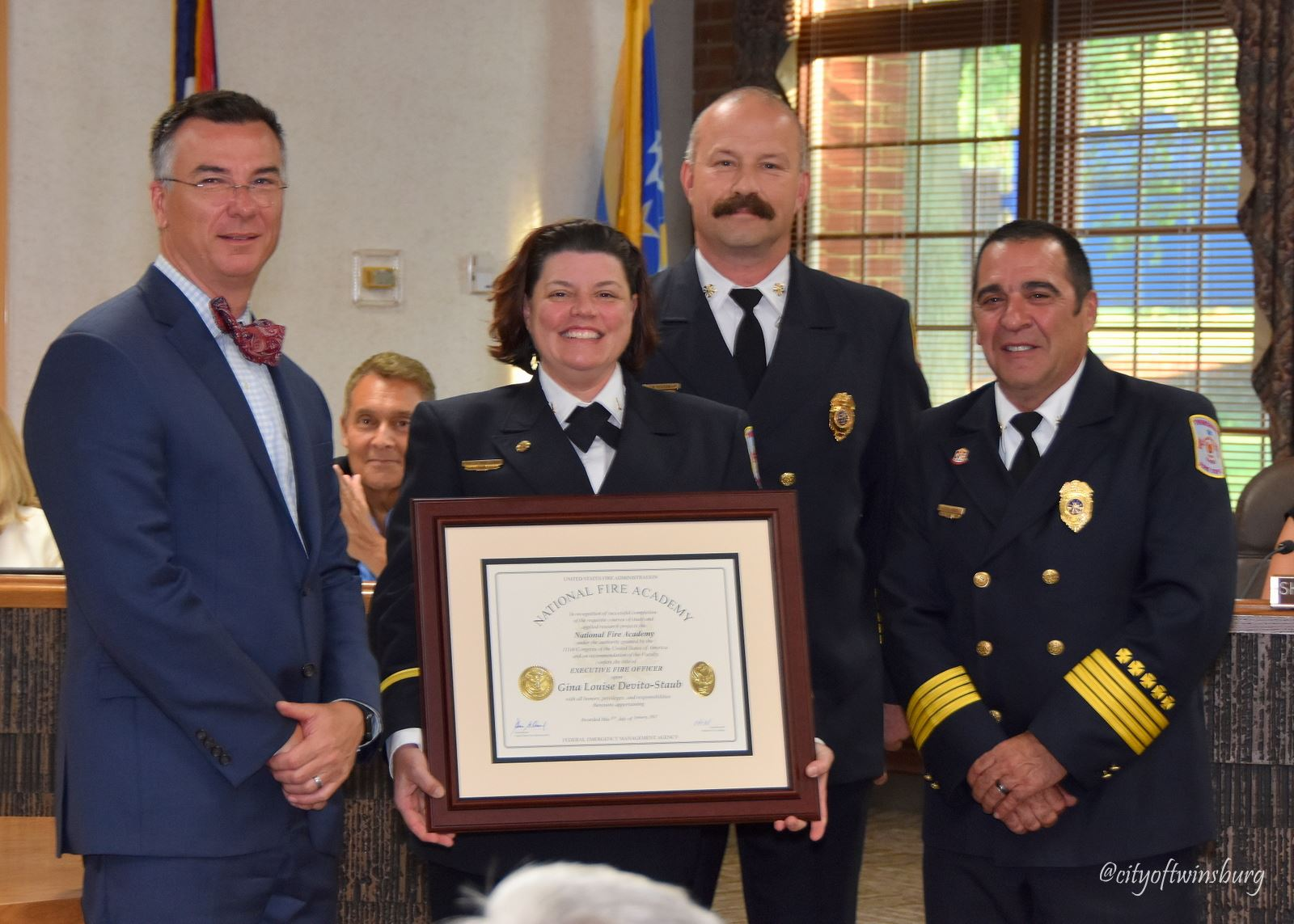 Twinsburg City leaders recognized Lieutenant Gina DeVito-Staub