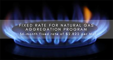 NATURAL GAS AGGREGATION PROGRAM The City of Twinsburg Announces Fixed Rate for Natural Gas Aggregati