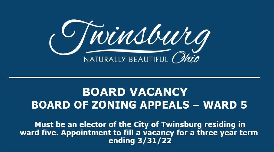 CITY OF TWINSBURG, OHIO  In accordance with Section 7.01 of the Charter of the City of Twinsburg, el