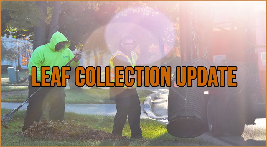 Leaf Collection Update:  City crews are completing Round 2 of leaf pickup and will continue to pick
