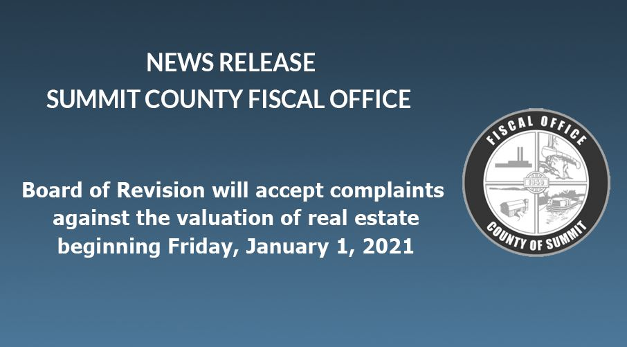 News Release: Fiscal Officer Kristen M. Scalise CPA, CFE reminds property owners that the Board of R