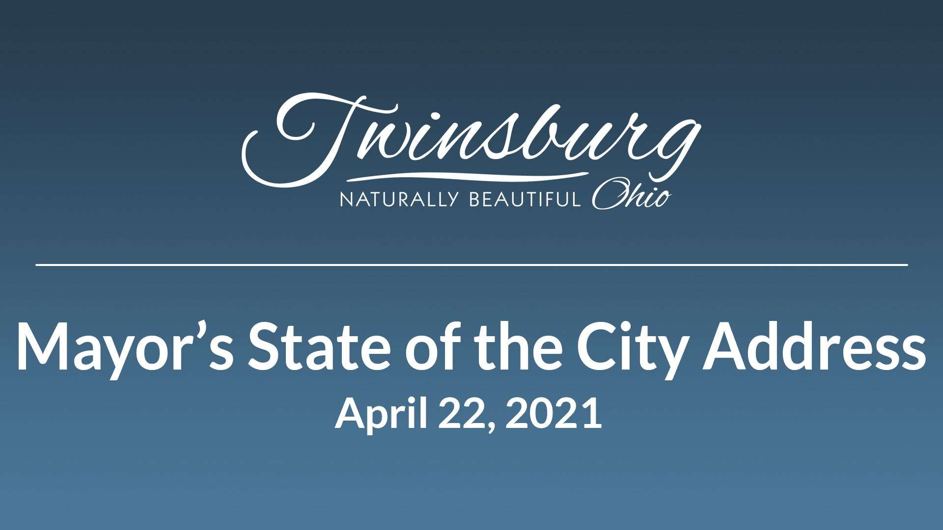 Mayor Ted Yates delivered his 2021 State of the City address on Thursday at Gleneagles Banquet Cente