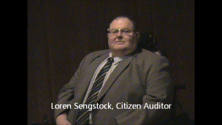 Loren Sengstock, Citizen Auditor